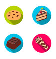 american cookies a piece of cake candy wafer vector image vector image
