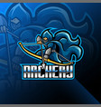 archery esport mascot logo design vector image