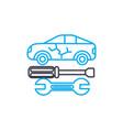 auto bodywork thin line stroke icon auto vector image vector image