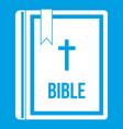 bible icon white vector image