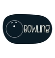 Bowling icons design vector image