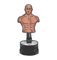 boxing dummy sketch vector image