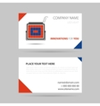 business card - LED spotlight vector image vector image