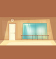 cartoon empty dance-hall with mirrors vector image