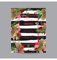 Christmas Invitation Poinsettia Greeting Card vector image vector image