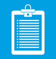 clipboard with check list icon white vector image vector image