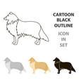 collie icon in cartoon style for web vector image vector image