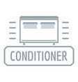conditioner logo simple gray style vector image vector image