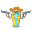 cowboy sleeping bad character cartoon vector image