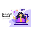 customer and operator online technical support vector image vector image