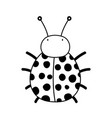 cute and little ladybug vector image