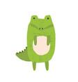 cute childish hand drawn crocodile vector image