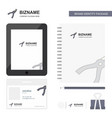 cutter business logo tab app diary pvc employee vector image vector image