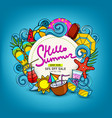 doodles hand-drawn on a summer theme vector image vector image