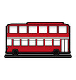 double decker bus sideview icon image
