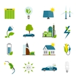 Eco Energy Flat Icons vector image