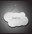 Empty cloud shape stainless steel with chain vector image