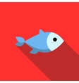 Fish icon flat style vector image