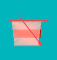 flat shading style icon pixel tea cup vector image vector image