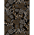 Floral pattern embroidery on a black background vector image vector image