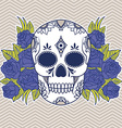 Floral skull design element vector image