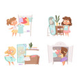 girl dressing up mother and daughter choice vector image