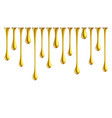 golden nail polish drops dripping golden paint vector image