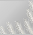 gray background with white feathers vector image vector image