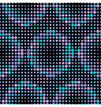 Halftone Circle Tiles Cold Colors Seamless Pattern vector image vector image