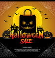 halloween sale offer design concept vector image vector image