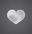 heart sketch logo doodle icon vector image vector image
