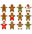 holiday gingerbread man christmas traditional vector image vector image