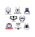 Ice hockey emblems and logo vector image vector image