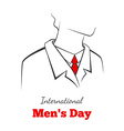 International mans day vector image vector image