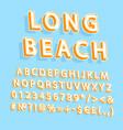 long beach vintage 3d alphabet set vector image