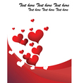 Loveheart background vector image vector image