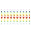 mouse cursor shape halftone spectrum pattern vector image vector image