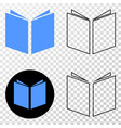 open book eps icon with contour version vector image vector image