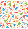 pattern with birthday caps for birthday party vector image vector image