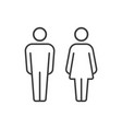 pictograms man and woman vector image