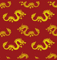 seamless pattern with dragons vector image vector image