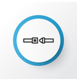 seatbelt icon symbol premium quality isolated vector image