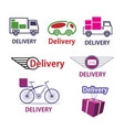 set of delivery icons vector image