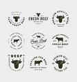 set of premium fresh beef labels vector image vector image