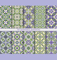set of ten classic seamless patterns in shades of vector image vector image