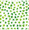 shamrock grass seamless pattern happy vector image