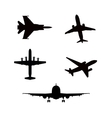 silhouette airplanes airbus or plane vector image