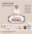 sketch russian cuisine menu template vector image vector image