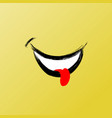 smile face funny brush graphic smile icon vector image vector image