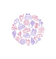 sweets icons vector image vector image